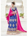 Incredible Silk Blue A Line Lehenga Choli