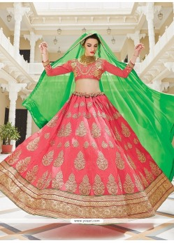 Latest Silk A Line Lehenga Choli