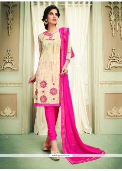 Mystic Lace Work Churidar Designer Suit