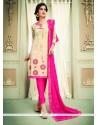 Mystic Lace Work Churidar Designer Suit
