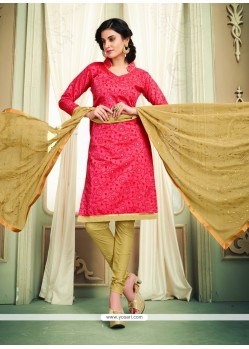 Tempting Rose Pink Churidar Designer Suit
