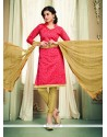 Tempting Rose Pink Churidar Designer Suit