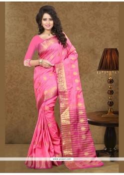Specialised Art Silk Patch Border Work Classic Designer Saree