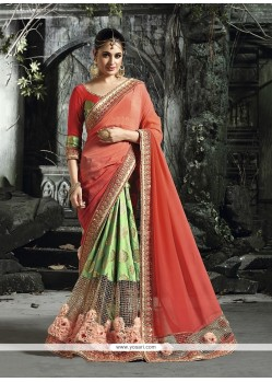 Stunning Green Designer Traditional Sarees