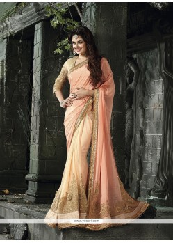 Delightful Patch Border Work Net Designer Traditional Sarees