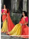 Winsome Patch Border Work Trendy Saree