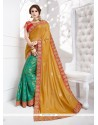 Astonishing Jacquard Silk Green Traditional Designer Sarees