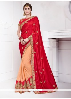 Vivid Silk Patch Border Work Designer Traditional Sarees