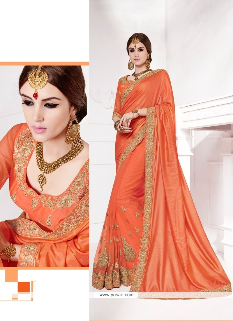 Pleasance Net Embroidered Work Traditional Saree