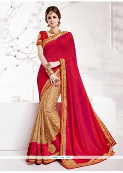 Deserving Beige Embroidered Work Designer Traditional Sarees