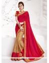 Deserving Beige Embroidered Work Designer Traditional Sarees
