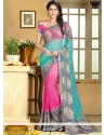 Multicolored Georgette Party Wear Saree