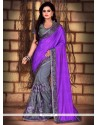 Regal Purple Net Classic Saree