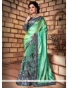 Tantalizing Patch Border Work Net Classic Saree