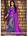 Sorcerous Net Patch Border Work Traditional Saree