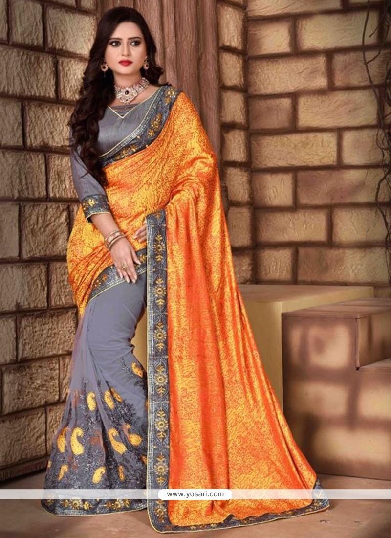 Strange Silk Grey Classic Saree