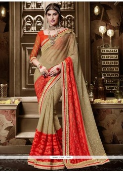 Beckoning Silk Embroidered Work Traditional Saree