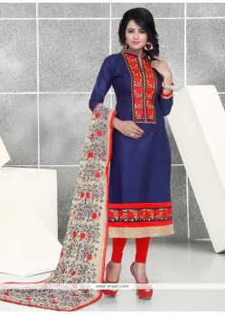 Pretty Resham Work Churidar Designer Suit