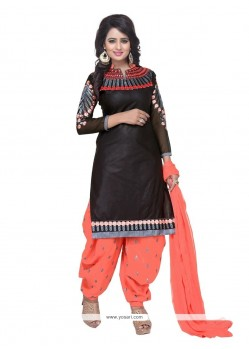 Fabulous Embroidered Work Cotton Punjabi Suit