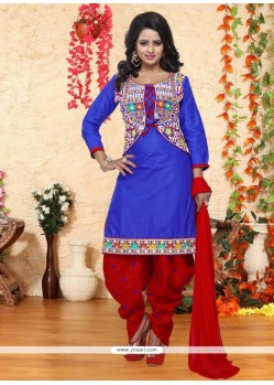 Haute Cotton Embroidered Work Punjabi Suit