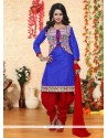 Haute Cotton Embroidered Work Punjabi Suit