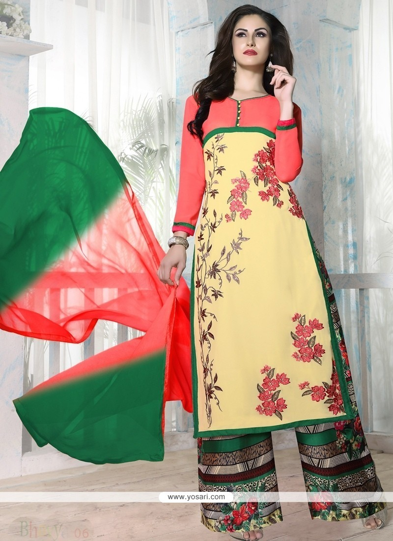 Pretty Georgette Designer Palazzo Salwar Kameez