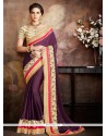 Prodigious Georgette Embroidered Work Designer Traditional Sarees