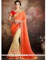 Intriguing Patch Border Work Classic Designer Saree
