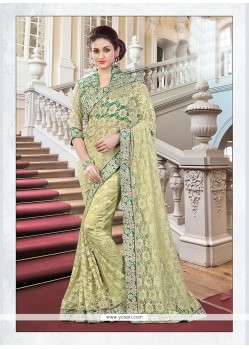 Impeccable Net Patch Border Work Classic Designer Saree
