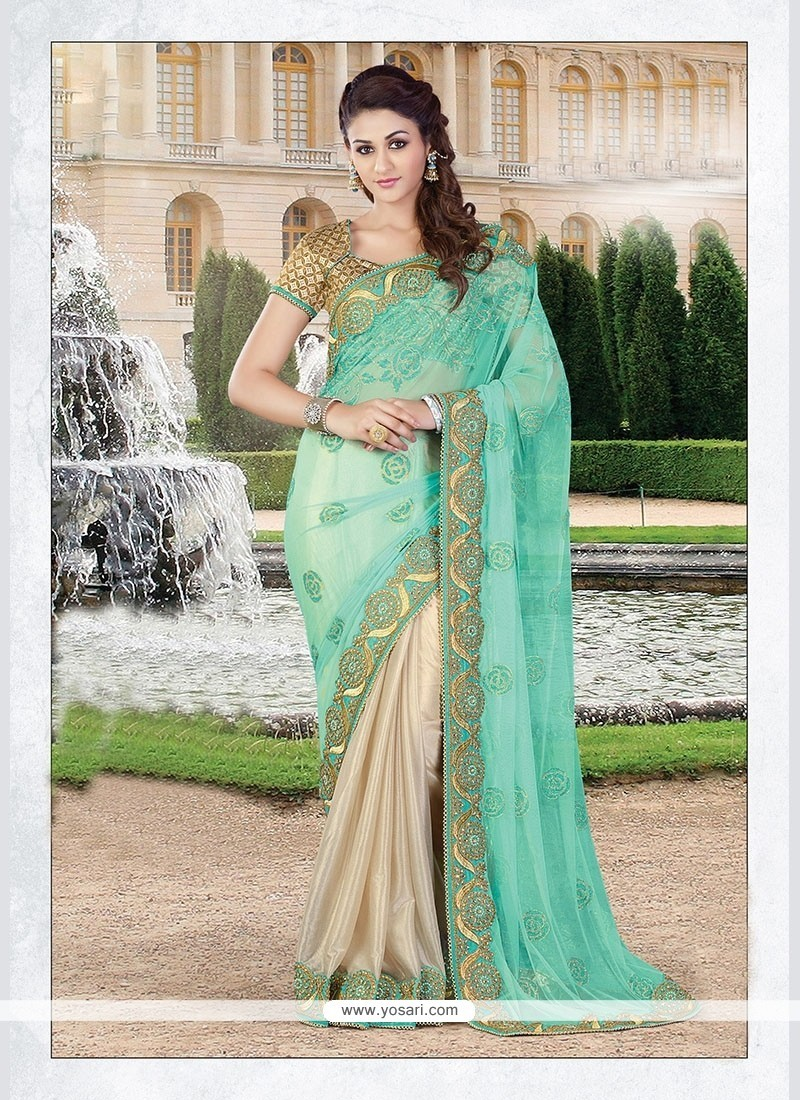Stunning Georgette Embroidered Work Classic Saree