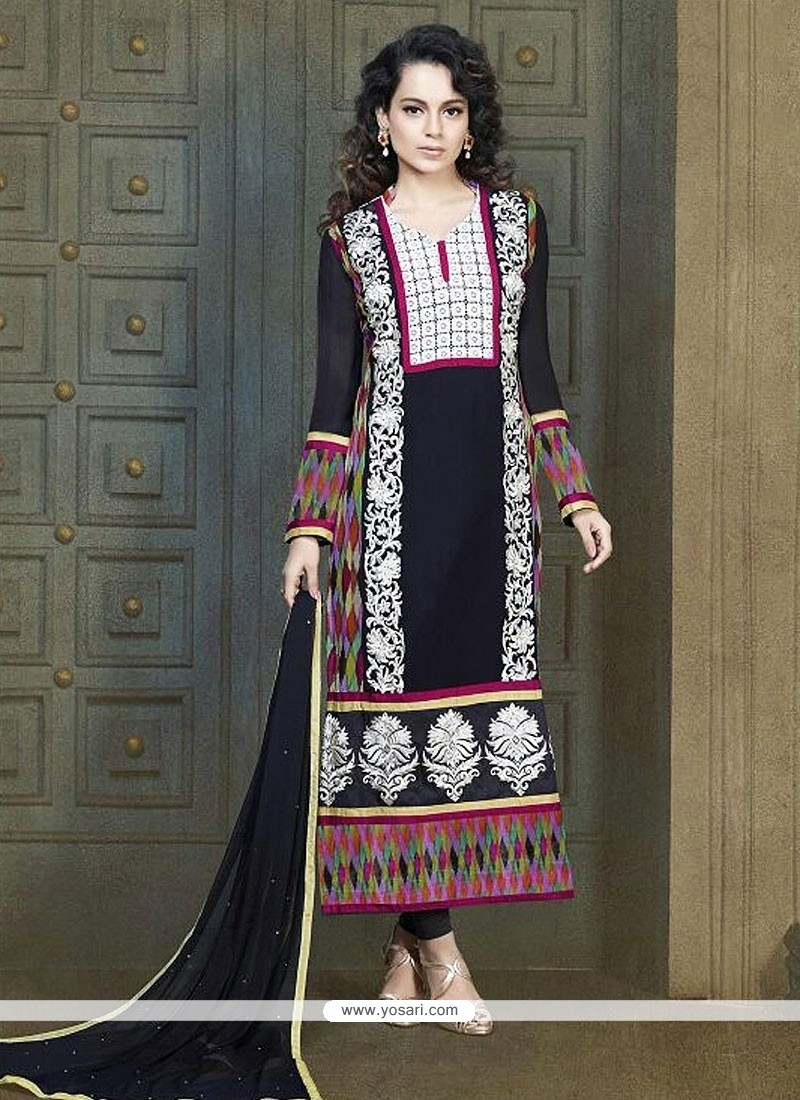 Multi Color Georgette Churidar Suit