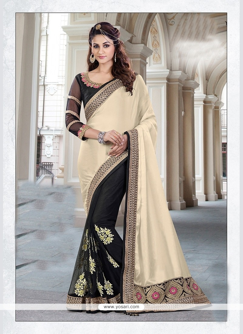 Perfervid Net Black Classic Designer Saree