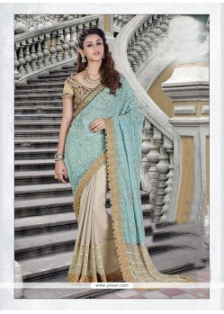 Noble Beige Trendy Saree