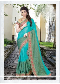 Entrancing Silk Embroidered Work Designer Traditional Sarees