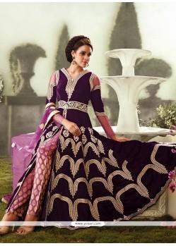 Splendid Purple Velvet Straight Suit