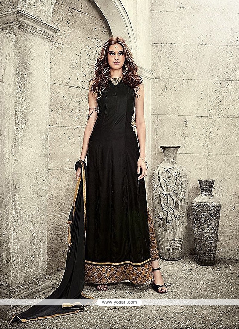 Aesthetic Black Designer Salwar Suit