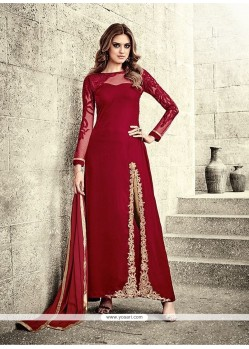 Lively Red Designer Salwar Suit