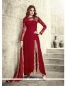Lively Red Designer Salwar Suit