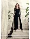 Exceeding Velvet Black Embroidered Work Designer Salwar Suit