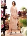 Catchy Georgette Beige Designer Straight Salwar Kameez