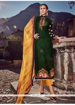 Aristocratic Digital Print Work Fancy Fabric Designer Straight Salwar Suit