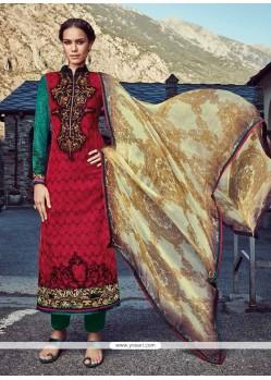 Majestic Embroidered Work Designer Straight Salwar Suit