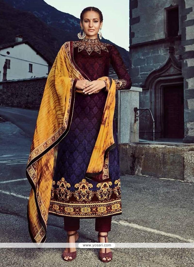Floral Multi Colour Designer Straight Salwar Suit