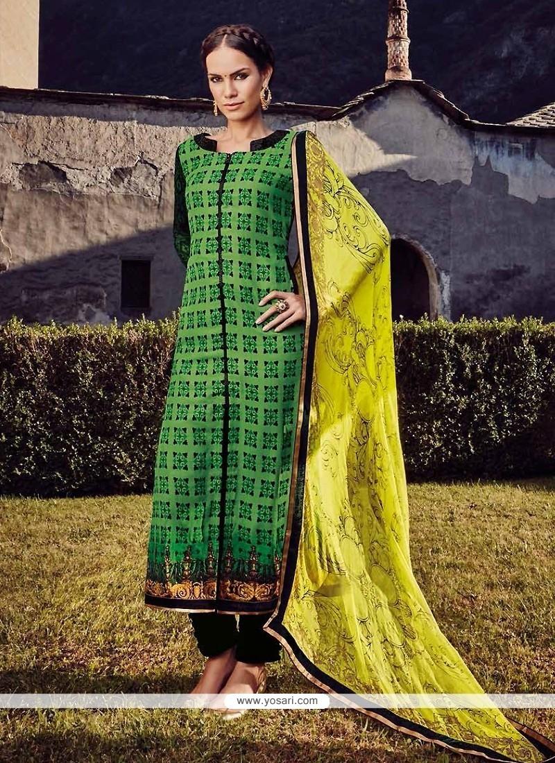 Demure Embroidered Work Fancy Fabric Designer Straight Salwar Suit
