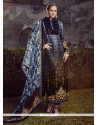Floral Multi Colour Digital Print Work Designer Straight Salwar Suit