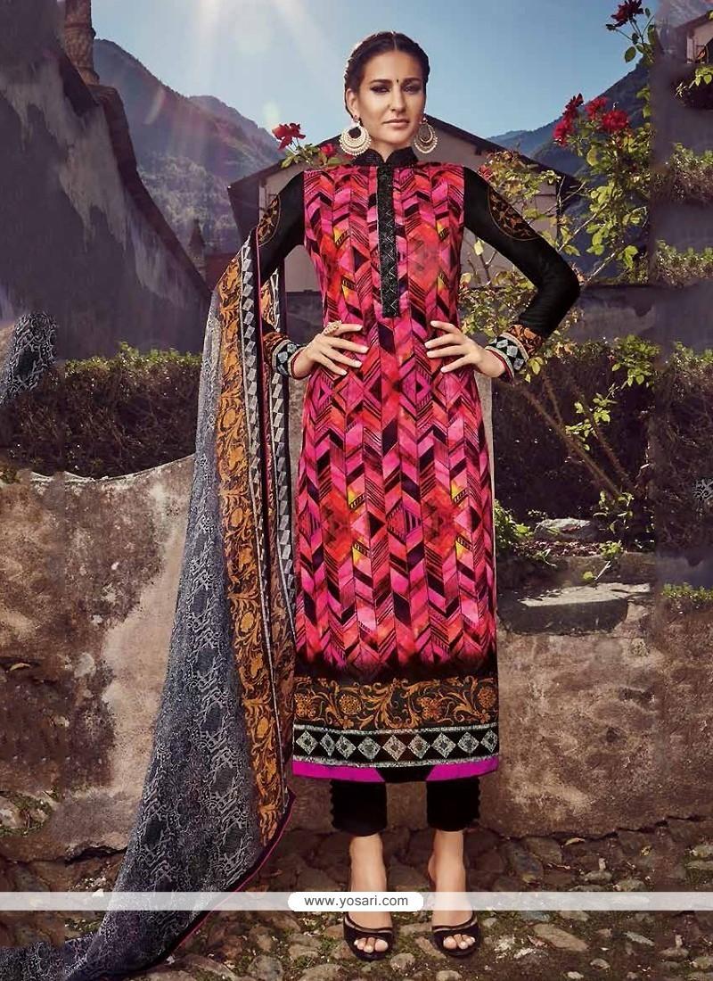 Transcendent Embroidered Work Designer Straight Salwar Suit