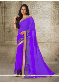 Surpassing Patch Border Work Casual Saree