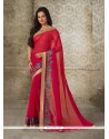 Flattering Georgette Red Casual Saree