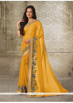 Surpassing Yellow Casual Saree