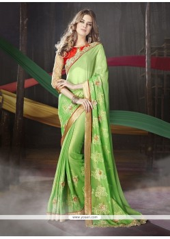 Innovative Green Designer Traditional Sarees